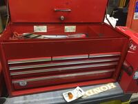 Snap-on red metal tool case