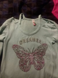white and pink floral crew-neck shirt 251 mi