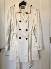 Double button white coat NEW Reston, 20191