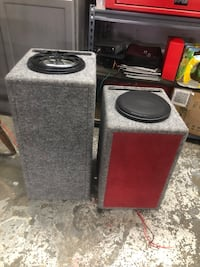 black and red subwoofer speaker Roswell, 30076