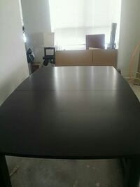 rectangular black wooden dining table Mississauga, L5R