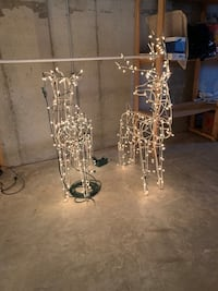 Lighted Reindeer holiday decorations