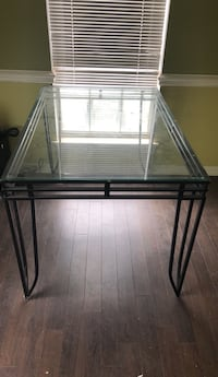 kitchen table glass top