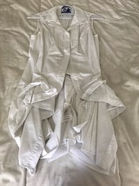 Guess by Marciano - white cotton designer no sleeve blouse Toronto, M5S 3M4