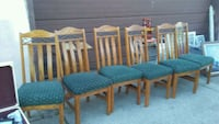 Oak chairs and taboe Paterson, 07503