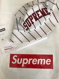Supreme SS16 White Striped Mesh Crusher Stockton, 95207