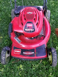 Toro machine 22 Inches Gas and electric starter