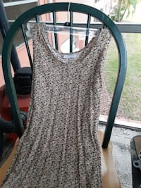 BLACK-WHITE-BROWN PRINT SLEEVELESS DRESS BY BASIC EDITIONS  SIZE SMALL Clearwater, 33764