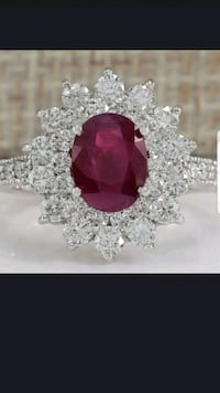 Sterling silver Ruby and white sapphire size 8 Dundalk, 21222