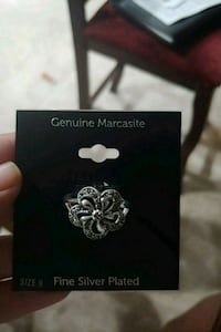 Genuine Marcasite Size 9 Fine Silver Plated San Diego, 92119