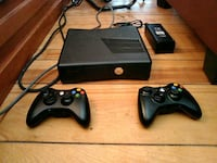 black Xbox 360 console with controllers Surrey, V4N 3V7