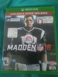 Madden NFL 18 Xbox One game case Cleveland, 44115