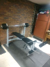 Weight Bench with Bar and Weights Omaha, 68117