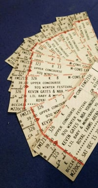 Kevin Gates , NBA young boy,  lil baby tickets Fort Washington, 20744