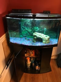45 gallon tank with supplies
