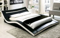 New!! Modern Bed White & Black • No Credit Needed