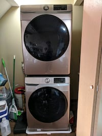 Samsung washer and dryer set front loading