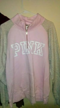 gray and white Pink by Victoria's Secret jacket Duluth