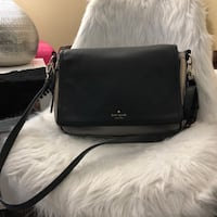 black leather crossbody bag with tassel Fairfax, 22033