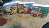 two assorted plastic toy cars Merced