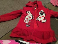 red and black Mickey Mouse print jacket Cahokia, 62206