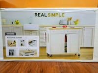 Brand new portable kitchen island with butcher block Springfield, 22153