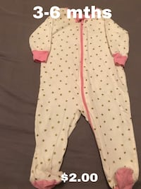 baby's white and red polka dot footie pajama 1483 mi