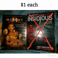 two DVD horror movie cases Dickinson, 77539