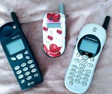 3 Vintage Cell Phones, used for sale  San Marino, CA