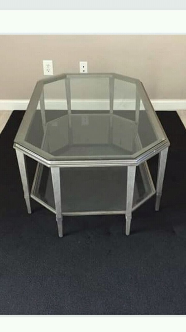 Used Coffee Table Two Tier Glass On Metal Base For Sale In Powell