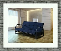 Black futon bed frame with mattress free delivery 53 km