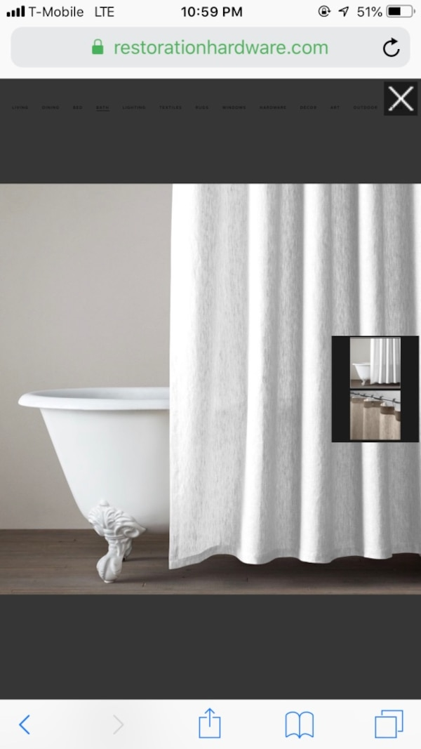 New York Icinde Ikinci El Satlk Restoration Hardware White Vintage Belgian Linen Shower Curtain