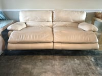 Macy's leather double reclining tan couch - priced right - WON'T LAST Boca Raton, 33486