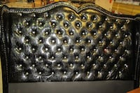 High Back King Size Black Alligator Headboard w/ Crystal Buttons  Chattanooga