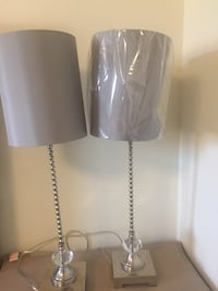 White and gray table lamp Whitby, L1P