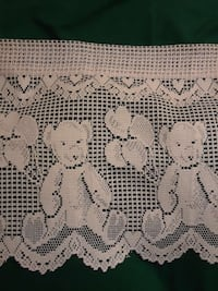 Pale pink lace teddy bear Valance Catonsville, 21228