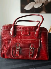 Large Red patterned tote purse Eucc Mississauga, L5N