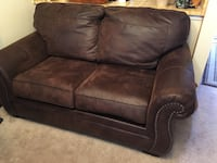 Excellent Chocolate Suede Loveseat Springfield, 22153
