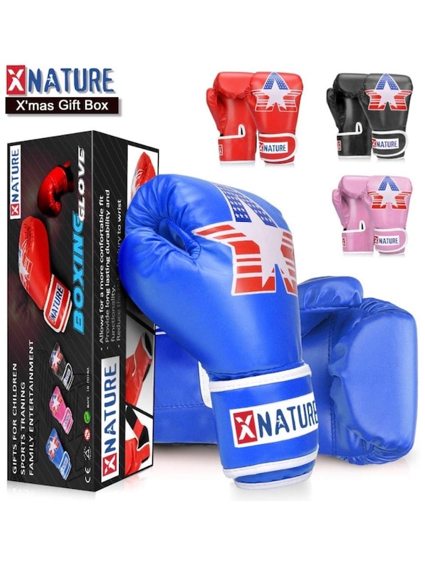 New kids boxing gloves red