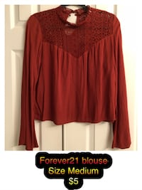 Forever21 rust lace blouse! Size M Chantilly, 20152