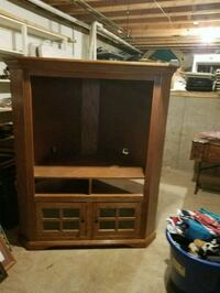 brown wooden framed glass cabinet Homer Glen
