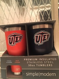 New official ncaa utep premium stainless steel tumblers