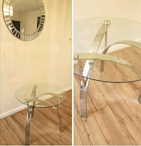 2 glass end table for $30 each with mirror $100 3 pieces  Chantilly, 20152