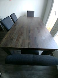 NEED TO SELL-Espresso Wood Dining Room Set