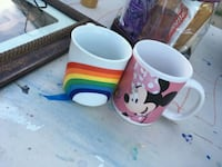 three white, red, and blue ceramic mugs El Paso, 79924
