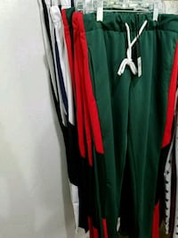 green  red  & Black track  pants Duncanville, 75137