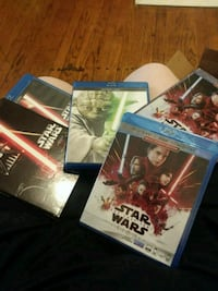 Star wars blueray and DVD movies..one is new!  Knoxville, 37917