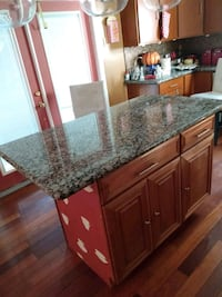 Island marble table and cabinets Hyattsville, 20782