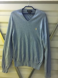 серый поло от Ralph Lauren v-neck sweater