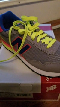 pair of gray-and-green NB running shoes Asbury Park, 07712